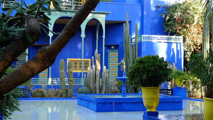 In fuga da Marrakech dentro un quadro colorato. I Jardin Majorelle